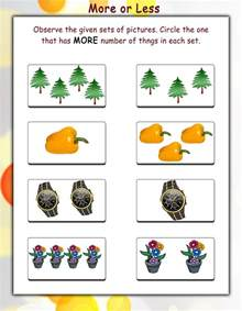 more and less worksheets activity shelter
