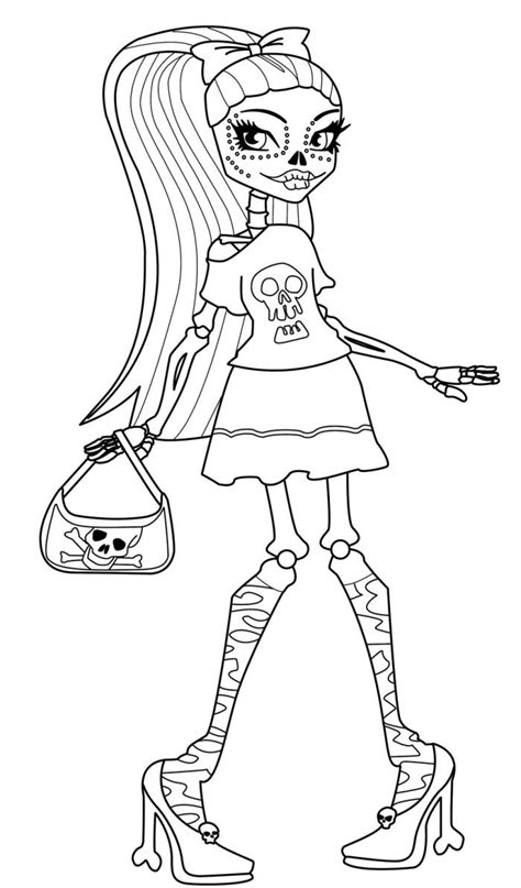 monster high skull coloring pages 290 best kiddo crafts images on pinterest