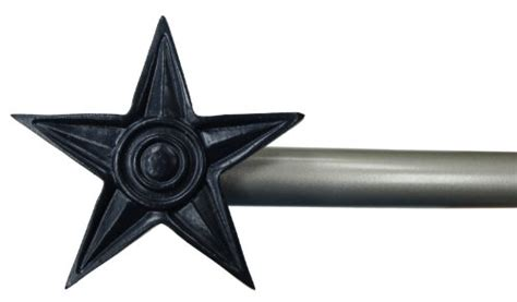 star curtain rods urbanest star window curtain drapery rod set blue star