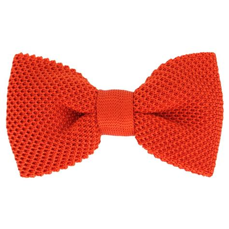 knitted orange tie knit orange bow tie the house of ties