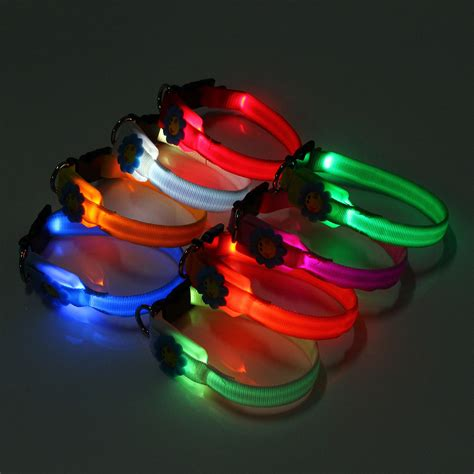 dog collars with lights for night new pet collars pet dog cat waterproof led lights flash