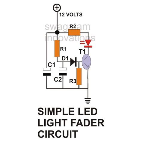 simple capacitor led circuit how to build ac dc light fader circuits
