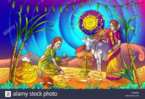 Pongal Cow Drawing
