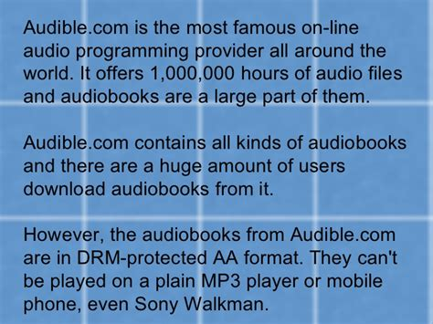 download mp3 from audible how to play audible aa audiobooks on mp3 player