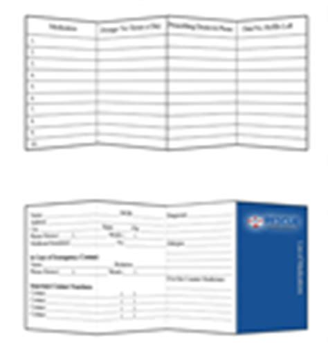 medication pocket card template 7 best images of printable medication list card free
