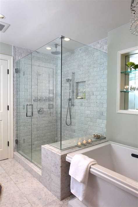 High End Shower Bathroom Contemporary With Mosaic Tiles High End Bathroom Showers