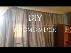 Room Divider Curtain Ikea - diy room divider for under 100 youtube