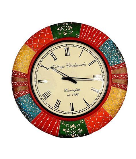 Handcrafted Wall Clocks - shreecrafts matte wooden handcrafted wall clocks buy