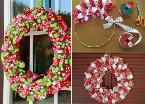 creative ideas christmas ribbon wreath
