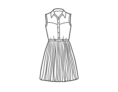 imagenes de vestidos faciles para dibujar desenho de vestido texano para colorir colorir com