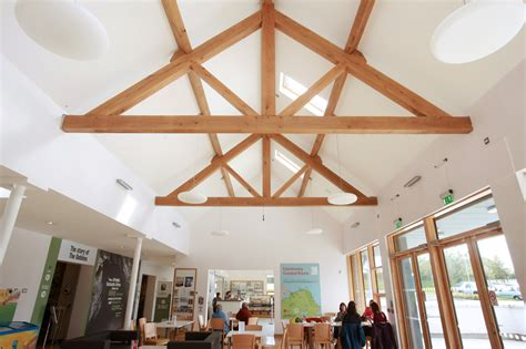 the ceiling is the roof traditional truss glenfort feature truss ireland northern ireland