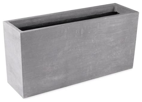 amedeo design resinstone rectangular planter modern