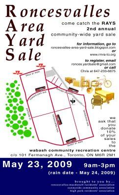 How To Find Garage Sales In Area by Roncesvalles Area Yard Sale This Saturday Map Available