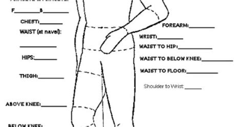 pattern drafting measurement chart good measurement guides for both male and female subjects