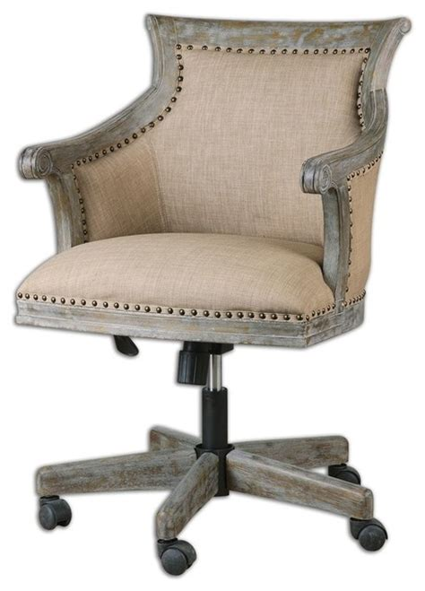 kimalina linen desk chair traditional office chairs