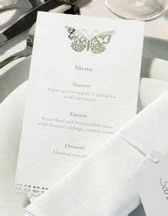 print your own wedding menu cards butterfly wedding