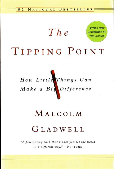 More On Monday The Tipping Point By Malcolm Gladwell by Currently Reading The Tipping Point By Malcolm Gladwell