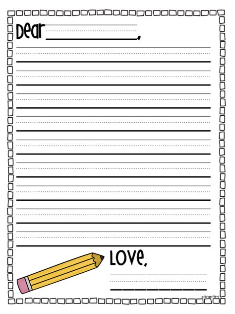 letter writing template for grade best photos of grade writing paper printable