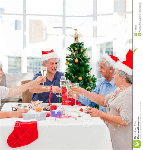 seniors on christmas day royalty free stock photo image