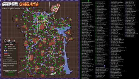 new vegas map map locations new vegas