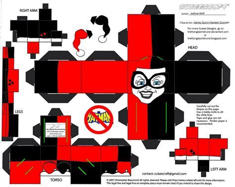 Kong Papercraft - vil7 harley quinn cubee by theflyingdachshund on deviantart