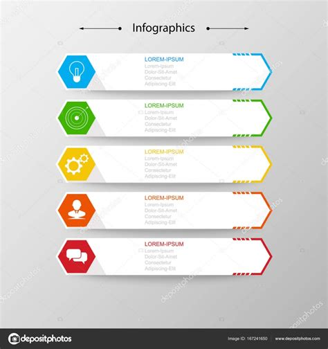 html layout verschiebt sich infografik design vektor business konzept schritte oder