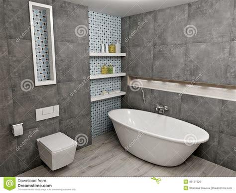 graues bad bagno grigio moderno illustrazione di stock immagine