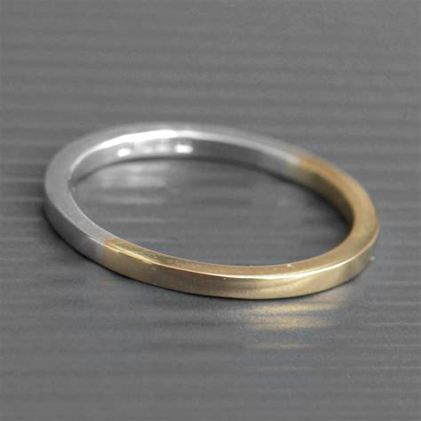 gold silver gold and silver ring lwsilver