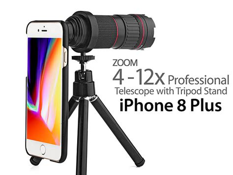 professional iphone 8 plus 4 12x zoom telescope with tripod stand
