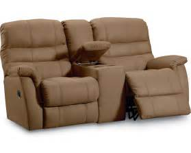 Loveseat With Two Recliners garrett reclining console loveseat furniture