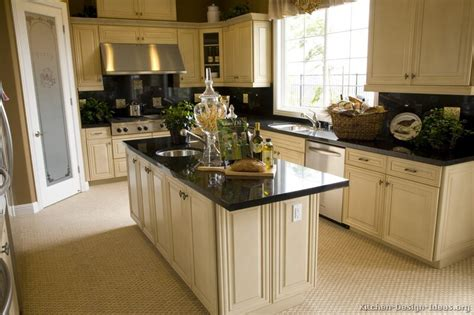 Kitchen Ideas With White Cabinets Pictures Of Kitchens Traditional White Antique Kitchens Kitchen 10