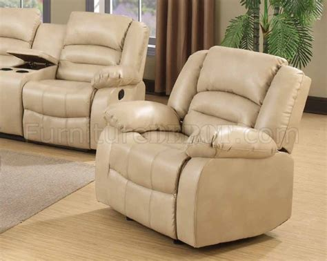 cream bonded leather sofa 9243 reclining sofa in cream bonded leather w options