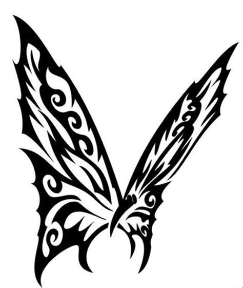 25 Awesome Tribal Butterfly Tattoo Only Tribal Butterfly Tattoos With Tribal