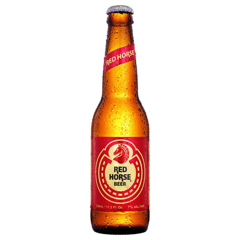 red bottle red horse beer bottle