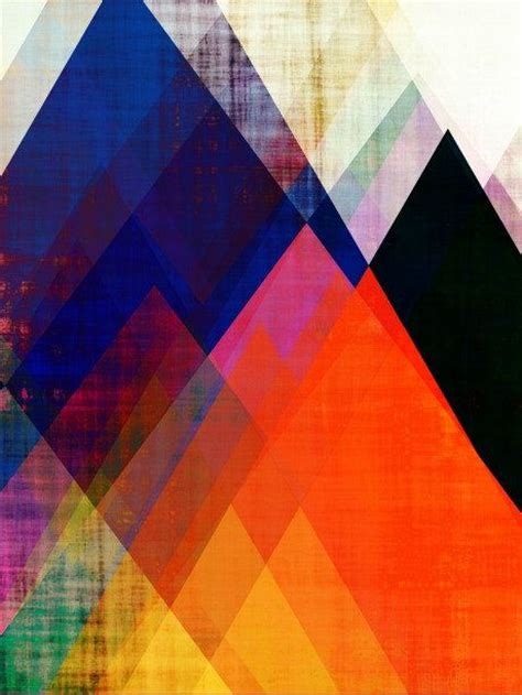 geometric print modern contemporary mountain abstract mountain abstract