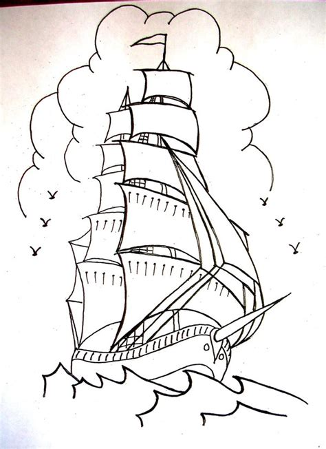 sailor jerry ship tattoo designs sailor jerry style ship by onfire4him on deviantart
