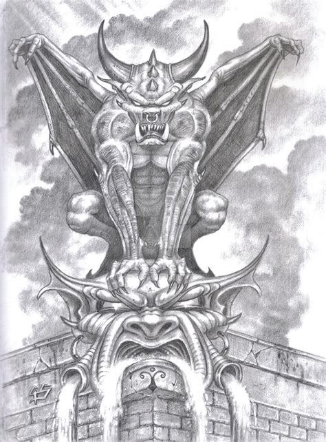 gargoyle by tonyszczudlo on deviantart