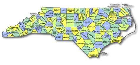 nc counties map maps carolina county map