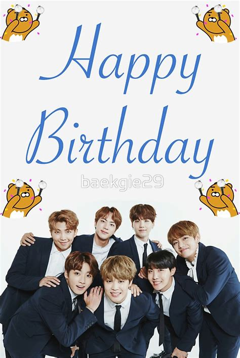bts birthday quot bts birthday card quot stickers by baekgie29 redbubble
