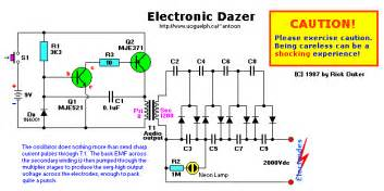 electronic dazer high voltage stun gun ladder voltage doubler of light