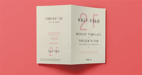 bi fold card template free psd bi fold mockup template vol5 psd mock up templates