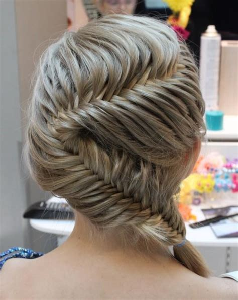 Fish Braids Hairstyles by Fish Braid Wedding Hairstyles Gorgeous German Braid
