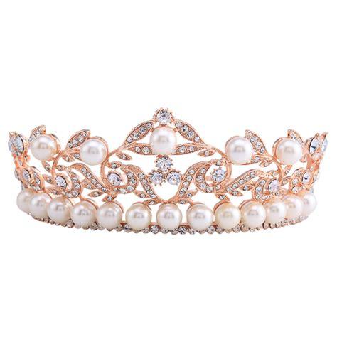 rose tiara 2 3 inch high baroque crown tiara headband bridal hair