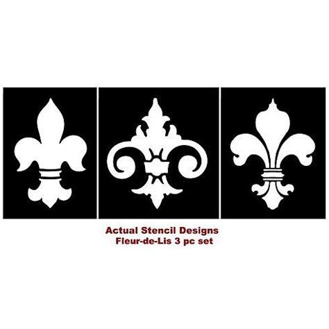Bathroom Stencil Ideas Fleur De Lis Stencils 3pc Kit See More Classical Stencils