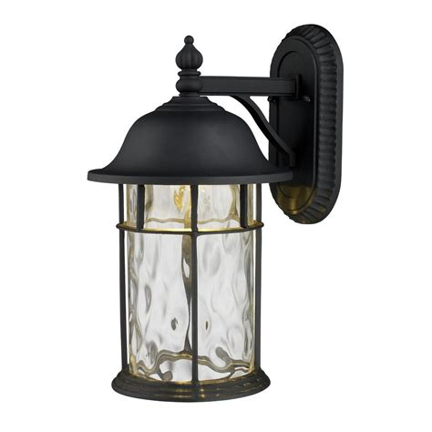Led Outdoor Wall Light With Clear Glass In Matte Black Black Outdoor Wall Light