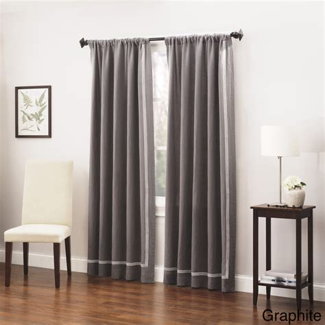 triple window curtains roxbury park baratto triple striped linen curtain panel