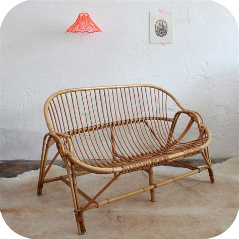 banquette en rotin mobilier vintage banquette canap 233 vintage rotin 233 es 60 atelier du petit parc