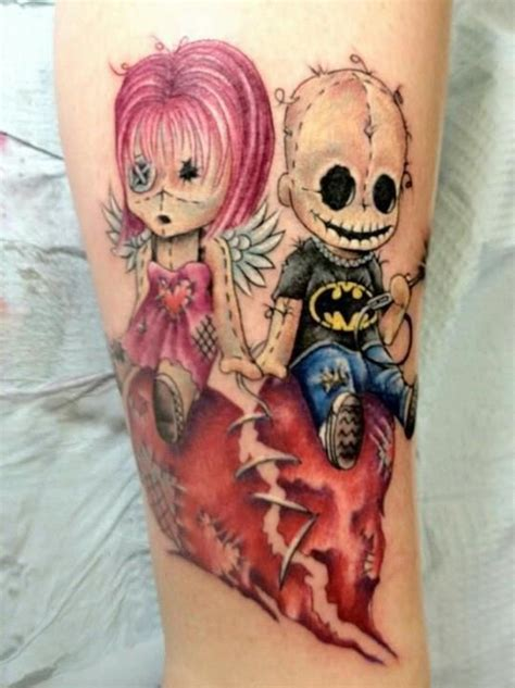 amazing creepy cute voodoo doll tattoos tattoos