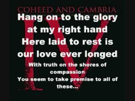 welcome home by coheed and cambria with lyrics