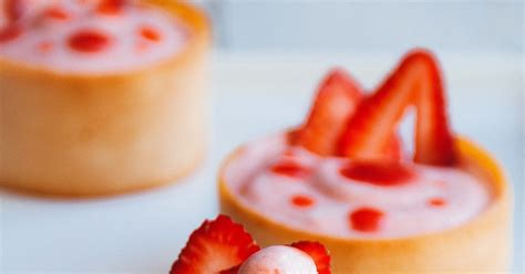 Vanilla Tuile by Strawberry Mousse In Honey Tuiles Hint Of Vanilla